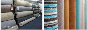 carpet roll can be packed by shrink wrap machine and stretch wrap machine