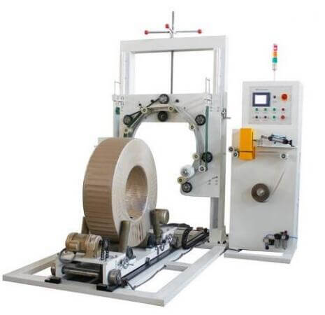 metal coil wrapping machine packing steel coils and bearing