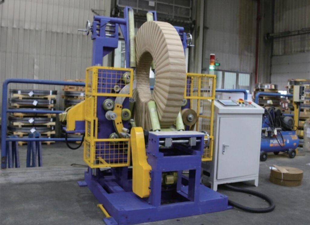 vertical copper coil wrapping machine