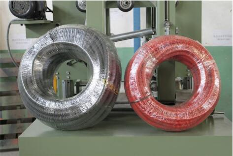 rubber hose coil wrapping machine