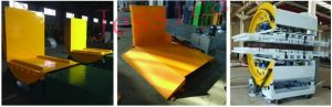 turnover machine and coil tipper or flipper