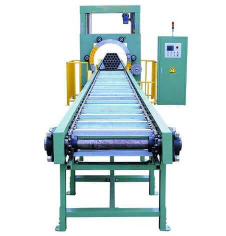 bundle wrapping machine for tube and pipe