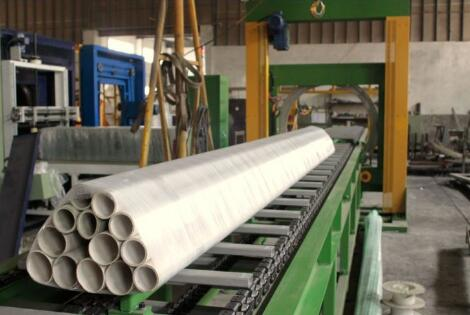 tube bundles packed by orbital stretch wrapper
