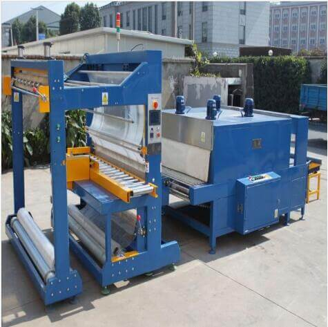 Roll shrink wrapping machine packing carpet and curtains