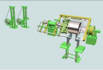 steel coils wrapping and strapping machine