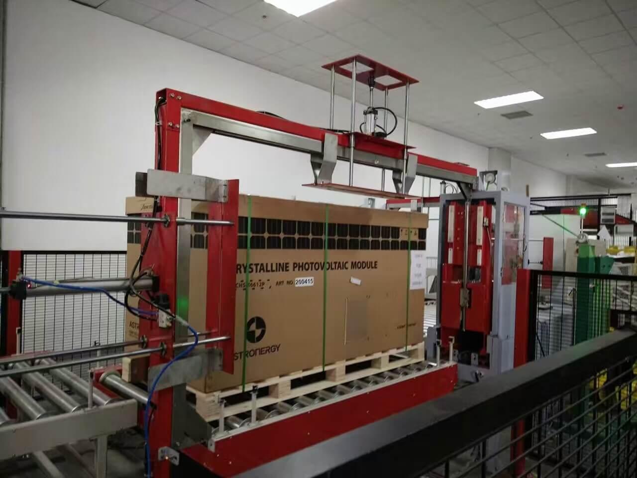 PET pallet strapper machine