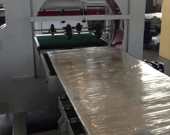 orbital stretch wrapper machine