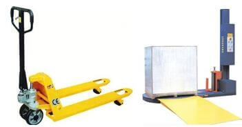 drive up ramp of pallet wrapper machine