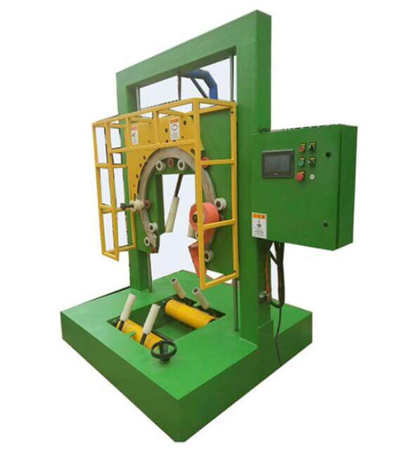 coil and reel stretch wrap packaging machine