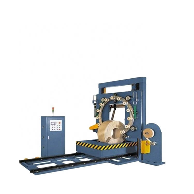 Double station coil wrapper machine