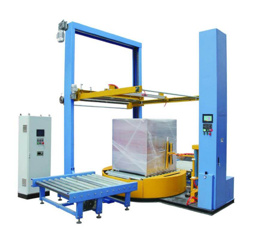 Stretch film wrapping machine pallet wrapping packaging machine